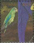 stamp Guyana spectacled plet