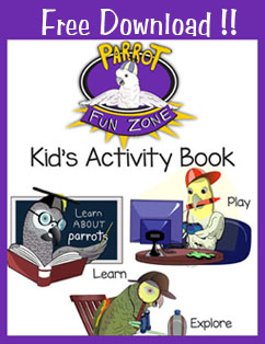 Free Download Parrot Kid Activity Book